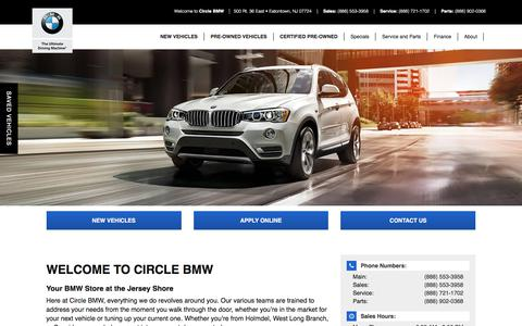 Screenshot of About Page circlebmw.com - BMW and Used Car Dealer in Eatontown | Circle BMW - captured July 18, 2018