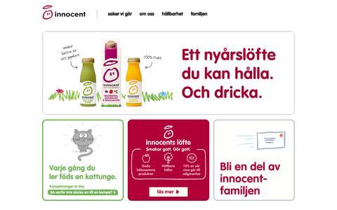 Screenshot of Home Page innocentdrinks.se - Innocent drinks – pure fruit smoothies - captured Jan. 28, 2015