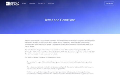 Screenshot of Terms Page glendelmdesign.co.uk - Glendelm - captured May 18, 2017