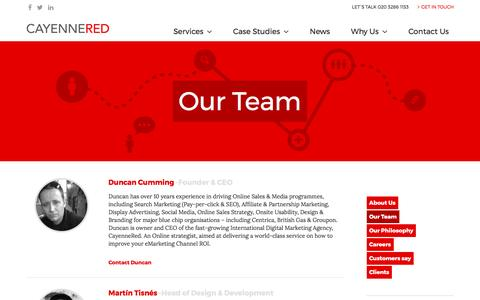 Screenshot of Team Page cayennered.com - Our Team | Cayenne Red - captured May 15, 2017