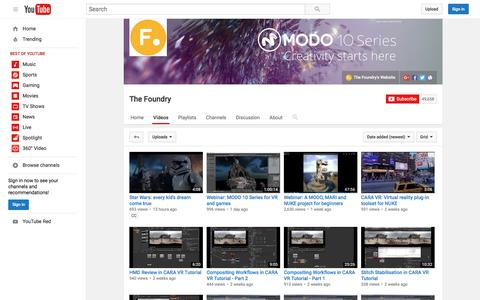 Screenshot of youtube.com - The Foundry  - YouTube - captured July 22, 2016