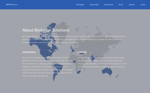 Screenshot of About Page berkmansolutions.com - About Berkman Solutions - captured July 21, 2018