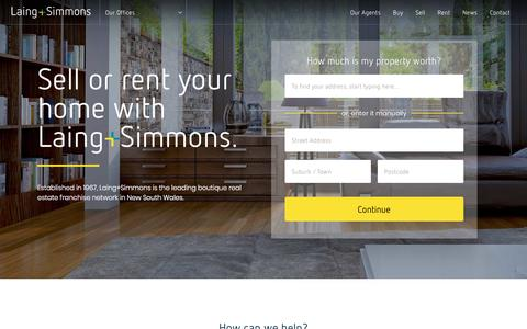 Screenshot of Home Page lsre.com.au - Real Estate Agents & Property Managers Sydney & New South Wales - captured Sept. 26, 2018