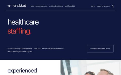 Healthcare Staffing | Randstad USA
