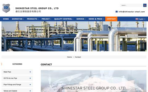 Screenshot of Contact Page shinestar-steel.com - Contact - SHINESTAR STEEL GROUP CO., LTD. - captured Sept. 9, 2019
