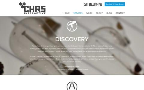 Screenshot of Services Page chrsinteractive.com - Website Design & Website Development Services in Los Angeles, CA | CHRS Interactive - captured Sept. 22, 2014