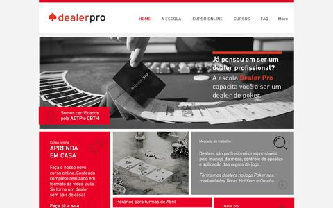 Screenshot of Home Page dealerpro.com.br - Curso de Dealer - captured Jan. 26, 2016