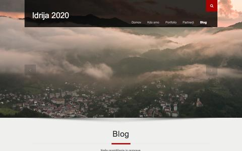 Screenshot of Blog idrija2020.si - Blog | Idrija 2020 - captured Sept. 30, 2014