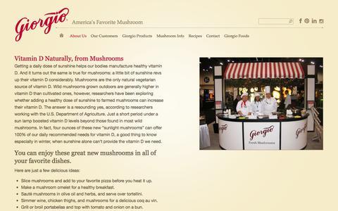 Screenshot of Press Page giorgiofresh.com - News | Giorgio Fresh Mushrooms - captured Oct. 2, 2014