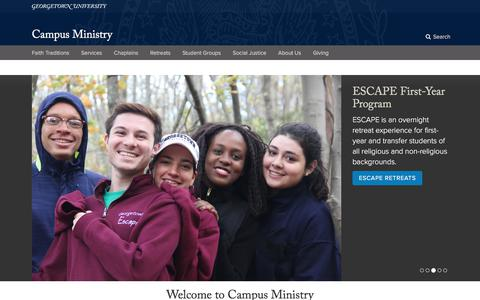 Campus Ministry | Georgetown University