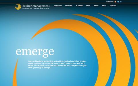 Screenshot of Home Page bekhor.ca - Bekhor Management | Professional Practice Development - captured Oct. 5, 2014