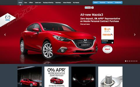 Screenshot of Terms Page mazda.co.uk - Mazda | Terms & Conditions - captured Nov. 4, 2014