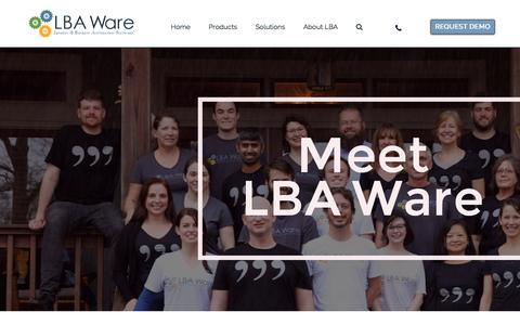 Screenshot of Team Page lbaware.com - The Team | LBA Ware - captured July 14, 2018