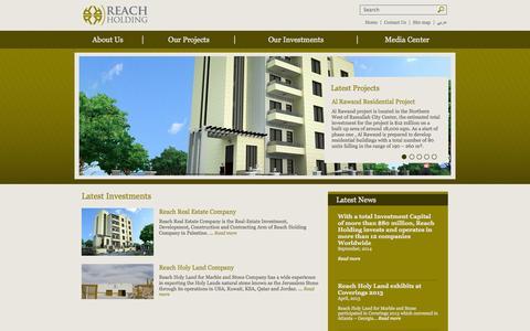 Screenshot of Home Page reach-holding.com - Reach Holding - captured Sept. 30, 2014