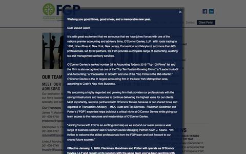 Screenshot of Team Page fgpcpa.com - CPA Accountants Providing Financial Help for your business | NJ, NY, CT | Flackman, Goodman & Potter (FGP CPA) - captured Nov. 25, 2016