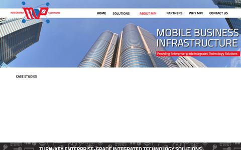 Screenshot of Case Studies Page mpitsolutions.com - MP Integrated Solutions - Case Studies - captured Oct. 3, 2017