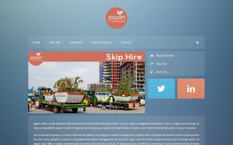 Screenshot of Home Page jaypin.co.uk - Jaypin Waste Management - captured Sept. 30, 2014