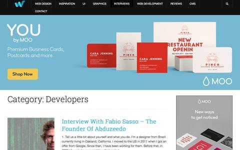 Screenshot of Developers Page webdesignledger.com - Developers - Web Design Ledger - captured March 10, 2017