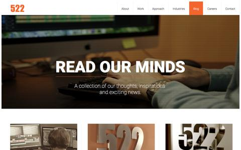 Screenshot of Blog 522productions.com - Blog | 522 Productions - captured Sept. 19, 2018