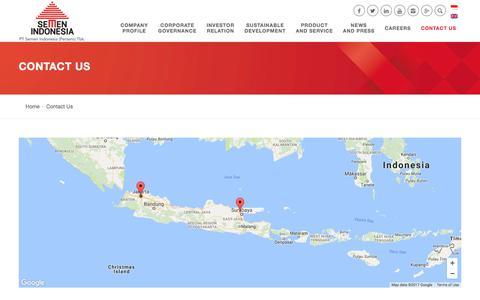 Screenshot of Contact Page semenindonesia.com - Contact Us | Semen Indonesia - captured July 10, 2017