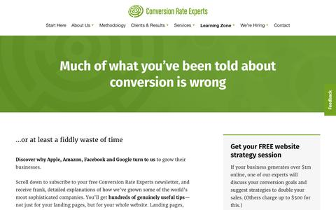 Learning Zone | Conversion Rate Experts