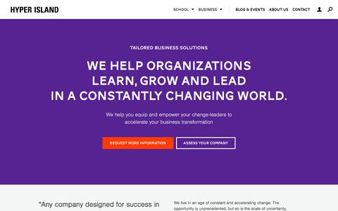Tailored Solutions   Hyper Island