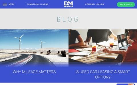 Screenshot of Blog Press Page dmautoleasing.com - D&M News | Personal & Commercial Auto Leasing | D&M Auto Leasing - captured Nov. 13, 2016