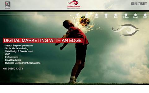 Screenshot of Home Page addnetit.com - Web Design Company In Bangalore | SMO company in Bangalore | Addpro Network - captured Oct. 4, 2014