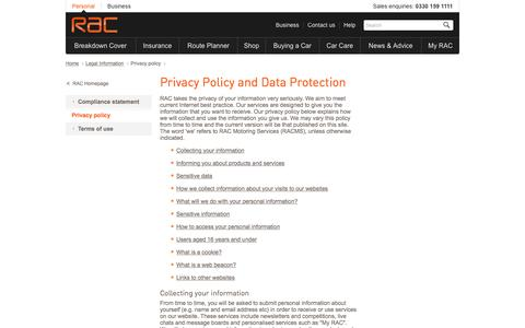 Privacy policy | RAC  | RAC
