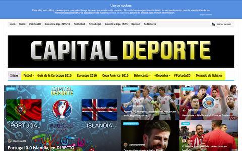 Screenshot of Home Page capitaldeporte.com - Capital Deporte - Pasión por el deporte - captured June 14, 2016