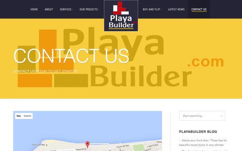 Screenshot of Contact Page playabuilder.com - Contact us - PlayaBuilder - captured Jan. 28, 2016