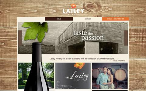 Screenshot of Home Page laileywinery.com - lailey-winery - captured Sept. 4, 2015