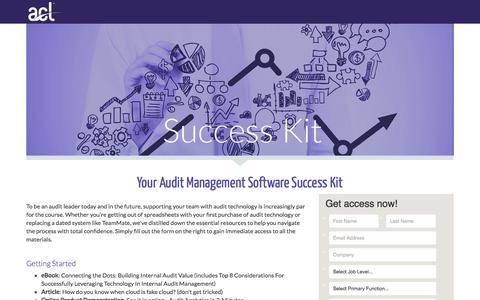 Screenshot of Landing Page acl.com - Download Your Audit Success Kit - captured April 20, 2018