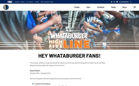 Screenshot of Signup Page mavs.com - Whataburger - The Official Home of the Dallas Mavericks - captured Oct. 15, 2019