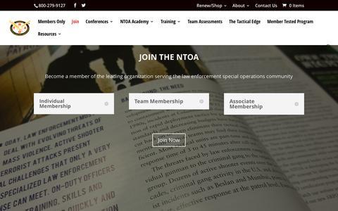Screenshot of Signup Page ntoa.org - Membership   NTOA - captured Dec. 21, 2016