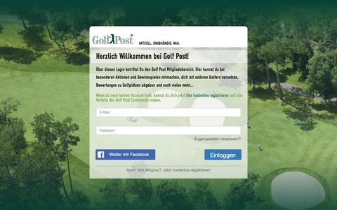 Screenshot of Login Page golfpost.de - Herzlich Willkommen bei Golf Post! - captured July 21, 2018