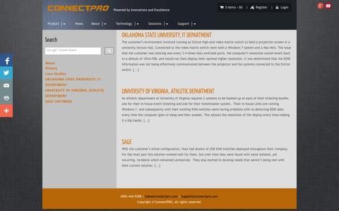 Screenshot of Case Studies Page connectpro.com - Case Studies - ConnectPRO - captured Sept. 30, 2014