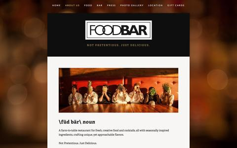 Screenshot of About Page foodbarbham.com - About Us — FoodBar - captured March 24, 2016