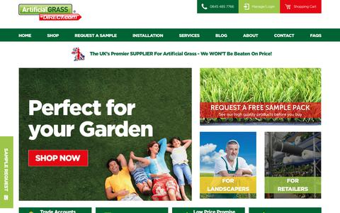 Screenshot of Home Page artificialgrass-direct.com - Artificial Grass, Lawns & Turf from Artificial Grass Direct - captured Oct. 8, 2017