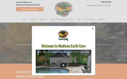 Screenshot of Home Page madisonearthcare.com - Madison Earth Care | Landscaping | Madison, CT - captured July 5, 2017