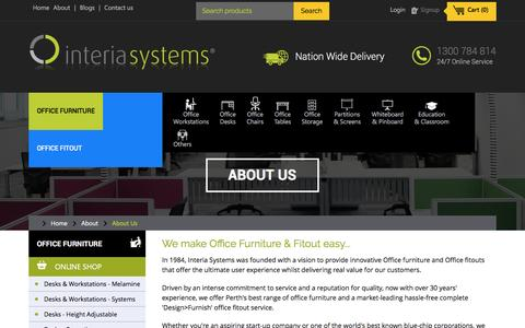 Screenshot of About Page interiasystems.com.au - About Us - Office Furiture Specialists Perth | Interia Systems - captured Aug. 6, 2016
