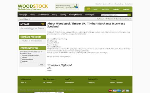 Screenshot of About Page woodstocktimber.com - About  Us - captured Oct. 26, 2014