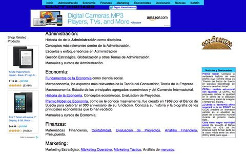 Screenshot of Home Page eco-finanzas.com - Economía y Finanzas - captured Jan. 14, 2018
