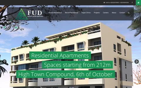 Screenshot of Home Page elfayoum.net - FUD El-Fayoum for Urban Development & General Contracting   Building Your Dreams Since 1986 - captured Nov. 14, 2018