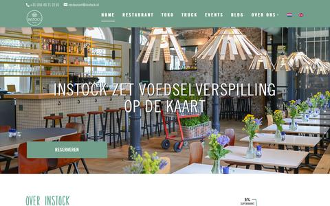 Screenshot of Menu Page instock.nl - Instock   Het restaurant dat voedselverspilling op de kaart zet - captured Sept. 24, 2015