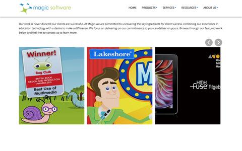 Screenshot of Case Studies Page magicsw.com - Case Studies «  Magic Software   Digital Learning - captured Sept. 6, 2016