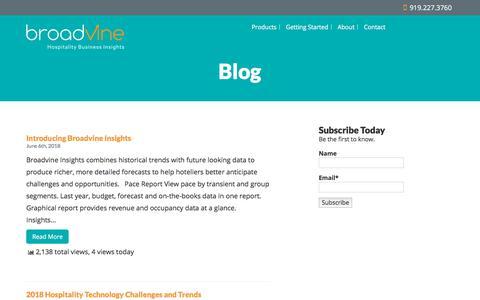 Screenshot of Blog broadvine.com - Blog - captured Nov. 10, 2019