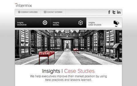 Screenshot of Case Studies Page intermixconsulting.com - Intermix: We bridge the gap between strategy and results. - captured Oct. 4, 2014