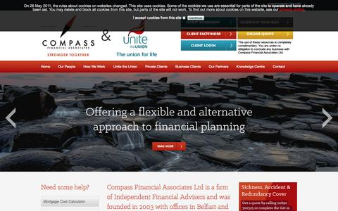 Screenshot of Home Page compassfa.co.uk - Compass Financial Associates |  Welcome - captured Oct. 2, 2014