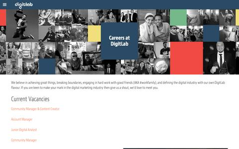 Screenshot of Jobs Page digitlab.co.za - Careers at DigitLab   DigitLab - captured Oct. 1, 2015